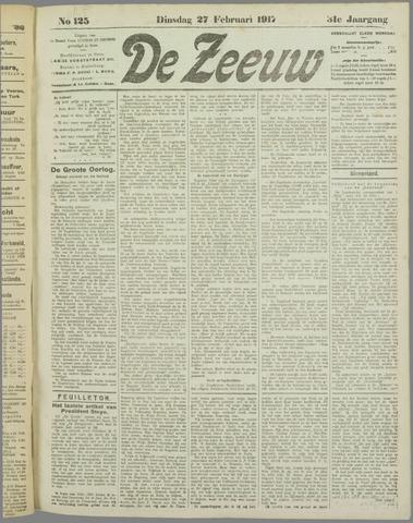 De Zeeuw. Christelijk-historisch nieuwsblad voor Zeeland 1917-02-27