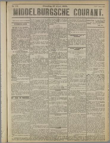 Middelburgsche Courant 1922-06-27