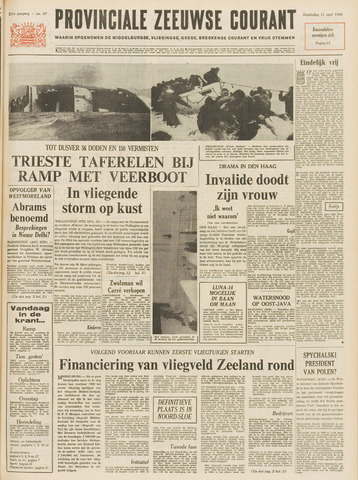 Provinciale Zeeuwse Courant 1968-04-11