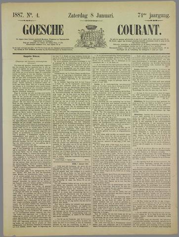 Goessche Courant 1887-01-08