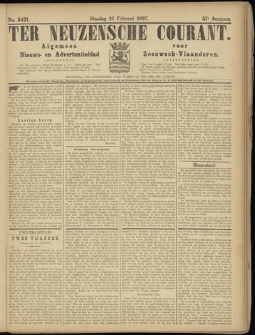 Ter Neuzensche Courant. Algemeen Nieuws- en Advertentieblad voor Zeeuwsch-Vlaanderen / Neuzensche Courant ... (idem) / (Algemeen) nieuws en advertentieblad voor Zeeuwsch-Vlaanderen 1897-02-16