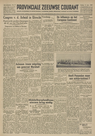 Provinciale Zeeuwse Courant 1949-01-14