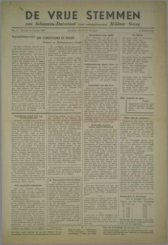 Vrije Stemmen van Schouwen-Duiveland, tevens mededeelingenblad Militair Gezag 1945-10-30