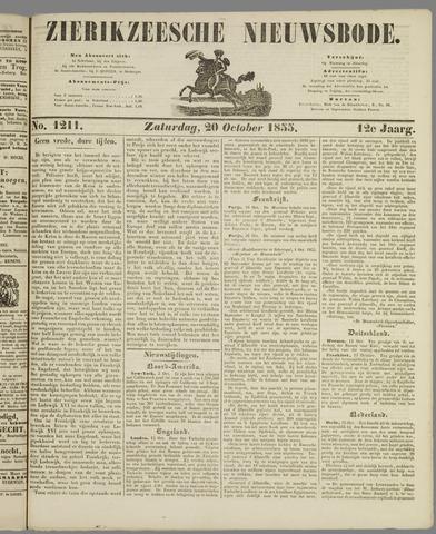 Zierikzeesche Nieuwsbode 1855-10-20