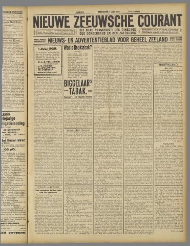 Nieuwe Zeeuwsche Courant 1925-06-04