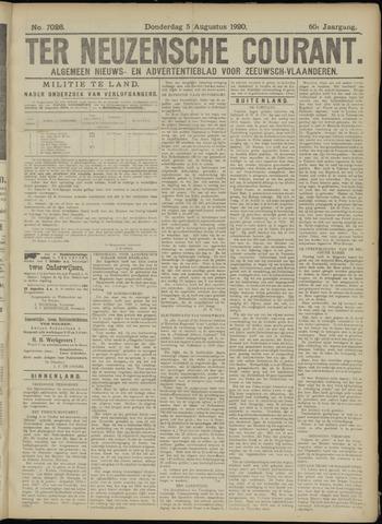 Ter Neuzensche Courant. Algemeen Nieuws- en Advertentieblad voor Zeeuwsch-Vlaanderen / Neuzensche Courant ... (idem) / (Algemeen) nieuws en advertentieblad voor Zeeuwsch-Vlaanderen 1920-08-05