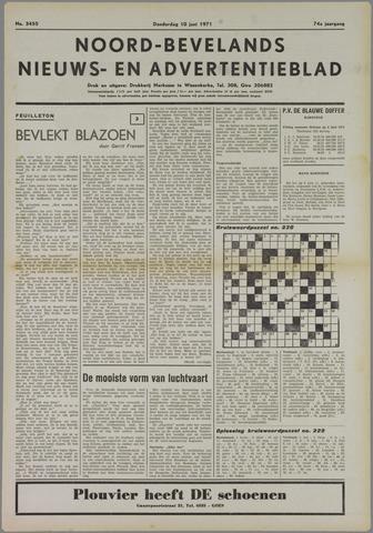 Noord-Bevelands Nieuws- en advertentieblad 1971-06-10