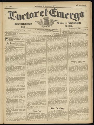 Luctor et Emergo. Antirevolutionair nieuws- en advertentieblad voor Zeeland / Zeeuwsch-Vlaanderen. Orgaan ter verspreiding van de christelijke beginselen in Zeeuwsch-Vlaanderen 1914-12-02
