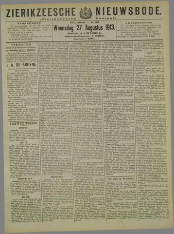 Zierikzeesche Nieuwsbode 1913-08-27