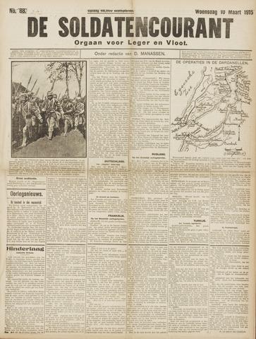 De Soldatencourant. Orgaan voor Leger en Vloot 1915-03-10