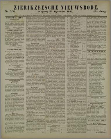 Zierikzeesche Nieuwsbode 1885-09-29