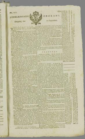 Middelburgsche Courant 1810-09-11