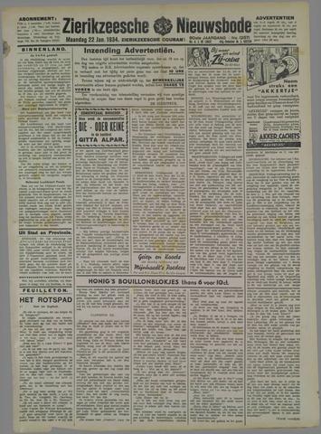 Zierikzeesche Nieuwsbode 1934-01-22