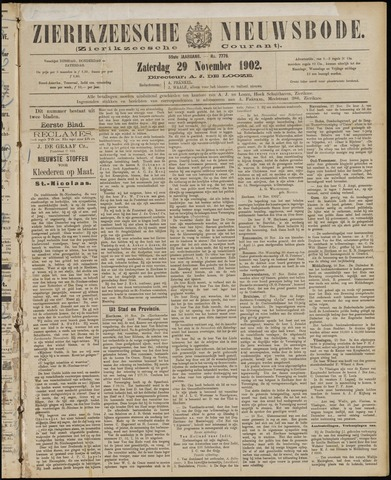 Zierikzeesche Nieuwsbode 1902-11-29