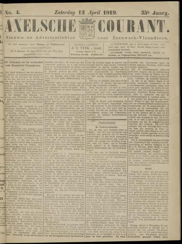 Axelsche Courant 1919-04-12