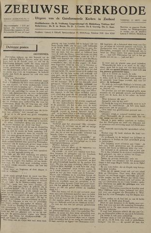 Zeeuwsche kerkbode, weekblad gewijd aan de belangen der gereformeerde kerken/ Zeeuwsch kerkblad 1948-09-10