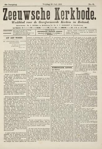 Zeeuwsche kerkbode, weekblad gewijd aan de belangen der gereformeerde kerken/ Zeeuwsch kerkblad 1915-07-30