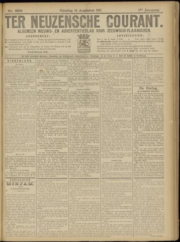 Ter Neuzensche Courant. Algemeen Nieuws- en Advertentieblad voor Zeeuwsch-Vlaanderen / Neuzensche Courant ... (idem) / (Algemeen) nieuws en advertentieblad voor Zeeuwsch-Vlaanderen 1917-08-14