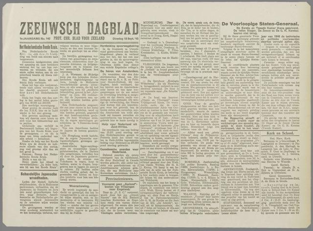 Zeeuwsch Dagblad 1945-09-18
