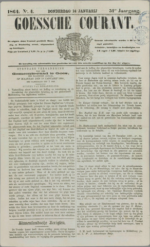 Goessche Courant 1864-01-14