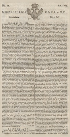 Middelburgsche Courant 1763-07-07
