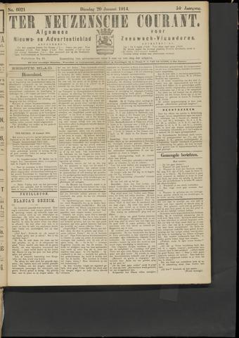 Ter Neuzensche Courant. Algemeen Nieuws- en Advertentieblad voor Zeeuwsch-Vlaanderen / Neuzensche Courant ... (idem) / (Algemeen) nieuws en advertentieblad voor Zeeuwsch-Vlaanderen 1914-01-20