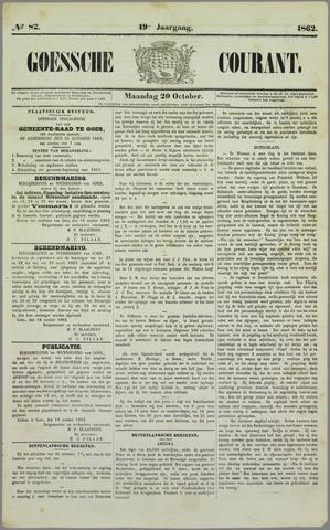Goessche Courant 1862-10-20