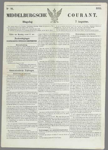 Middelburgsche Courant 1855-08-07