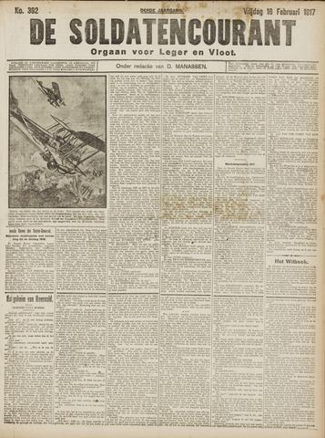 De Soldatencourant. Orgaan voor Leger en Vloot 1917-02-16