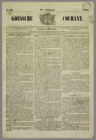 Goessche Courant 1855-03-29