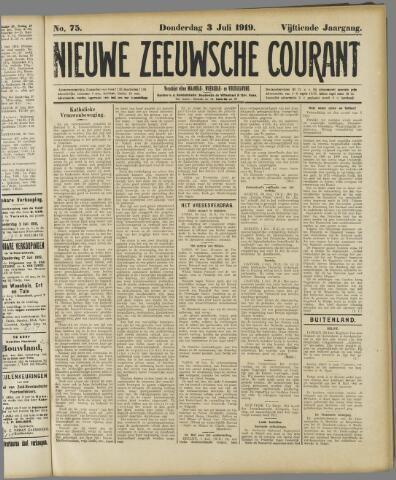 Nieuwe Zeeuwsche Courant 1919-07-03