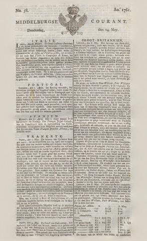 Middelburgsche Courant 1761-05-14