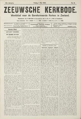 Zeeuwsche kerkbode, weekblad gewijd aan de belangen der gereformeerde kerken/ Zeeuwsch kerkblad 1929-05-03