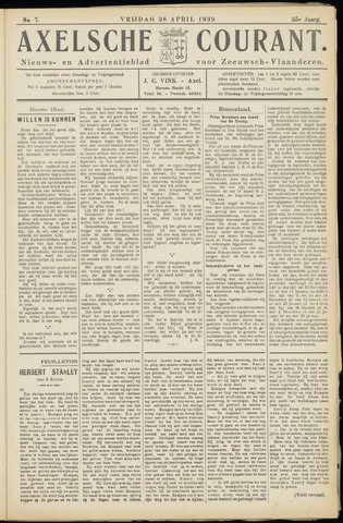 Axelsche Courant 1939-04-28