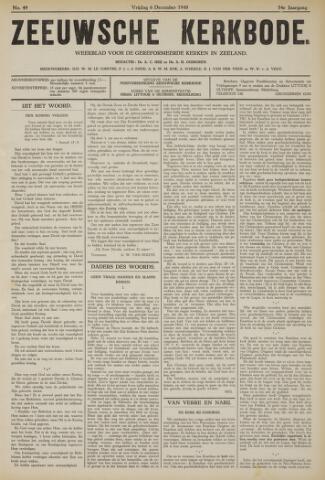 Zeeuwsche kerkbode, weekblad gewijd aan de belangen der gereformeerde kerken/ Zeeuwsch kerkblad 1940-12-06