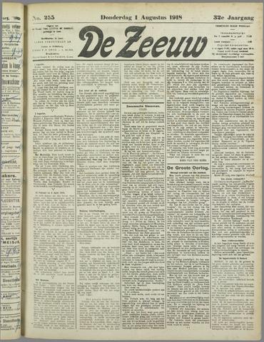 De Zeeuw. Christelijk-historisch nieuwsblad voor Zeeland 1918-08-01
