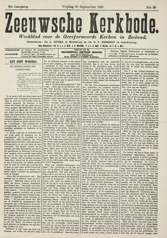 Zeeuwsche kerkbode, weekblad gewijd aan de belangen der gereformeerde kerken/ Zeeuwsch kerkblad 1921-09-30