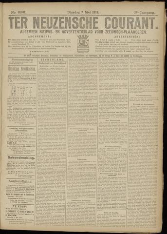 Ter Neuzensche Courant. Algemeen Nieuws- en Advertentieblad voor Zeeuwsch-Vlaanderen / Neuzensche Courant ... (idem) / (Algemeen) nieuws en advertentieblad voor Zeeuwsch-Vlaanderen 1918-05-07