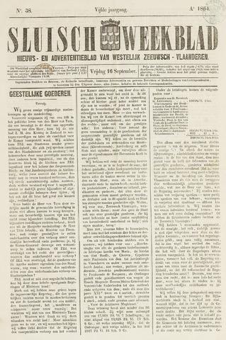 Sluisch Weekblad. Nieuws- en advertentieblad voor Westelijk Zeeuwsch-Vlaanderen 1864-09-16