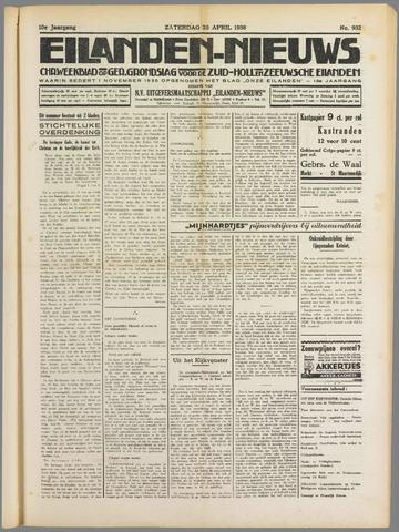 Eilanden-nieuws. Christelijk streekblad op gereformeerde grondslag 1938-04-23