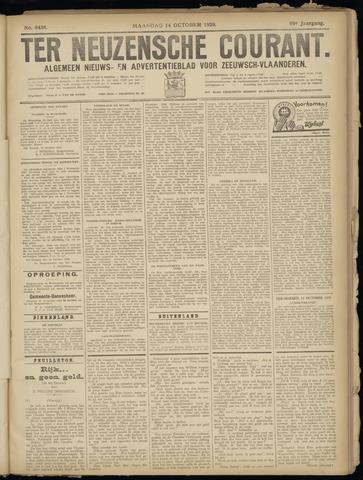 Ter Neuzensche Courant. Algemeen Nieuws- en Advertentieblad voor Zeeuwsch-Vlaanderen / Neuzensche Courant ... (idem) / (Algemeen) nieuws en advertentieblad voor Zeeuwsch-Vlaanderen 1929-10-14