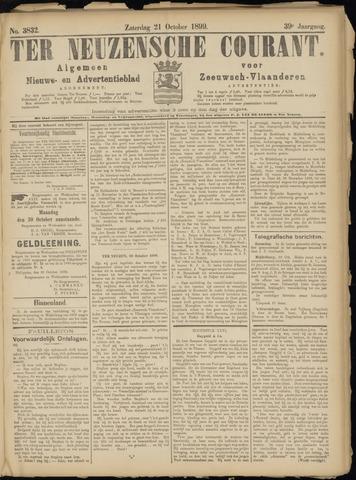 Ter Neuzensche Courant. Algemeen Nieuws- en Advertentieblad voor Zeeuwsch-Vlaanderen / Neuzensche Courant ... (idem) / (Algemeen) nieuws en advertentieblad voor Zeeuwsch-Vlaanderen 1899-10-21