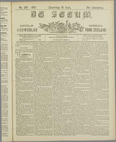 De Zeeuw. Christelijk-historisch nieuwsblad voor Zeeland 1912-06-15