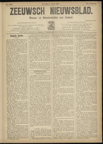 Ter Neuzensch Volksblad. Vrijzinnig nieuws- en advertentieblad voor Zeeuwsch- Vlaanderen / Zeeuwsch Nieuwsblad. Nieuws- en advertentieblad voor Zeeland 1918-04-06