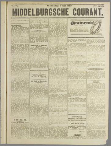 Middelburgsche Courant 1927-05-04