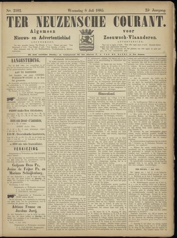 Ter Neuzensche Courant. Algemeen Nieuws- en Advertentieblad voor Zeeuwsch-Vlaanderen / Neuzensche Courant ... (idem) / (Algemeen) nieuws en advertentieblad voor Zeeuwsch-Vlaanderen 1885-07-08