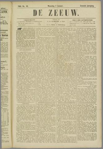 De Zeeuw. Christelijk-historisch nieuwsblad voor Zeeland 1893