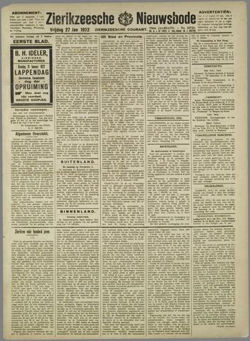Zierikzeesche Nieuwsbode 1922-01-27