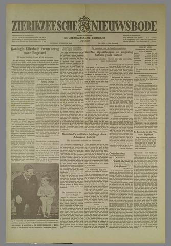 Zierikzeesche Nieuwsbode 1952-02-09