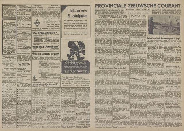 Provinciale Zeeuwse Courant 1942-12-02
